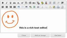 an exle to use html rich text editor cleditor