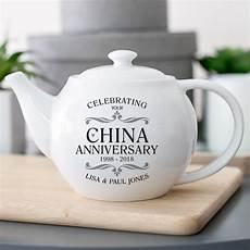 China Gifts For 20th Wedding Anniversary personalised china wedding anniversary teapot the gift