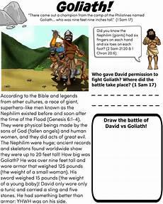 goliath bible worksheet for children free download