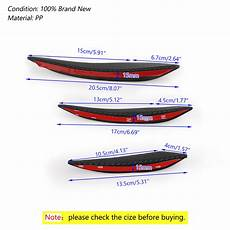 Titanline 6pcs Different Colors High 6pcs Universal Carbon Fiber Car Front Bumper Fins Spoiler