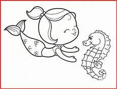 Ausmalbilder Meerjungfrau Mit Seepferdchen Ausmalbild Meerjungfrau Seepferdchen Batavusprorace