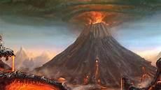 Gambar Ilustrasi Bencana Alam Gunung Meletus Gambar Kuning
