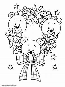 Ausmalbilder Weihnachten Teddy Teddy Bears Coloring Pages Coloring Pages
