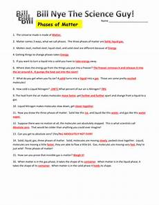 bill nye phases of matter video worksheet by mmingels teaching resources tes