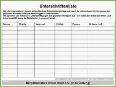Unterschriften Sammeln Muster Mieter