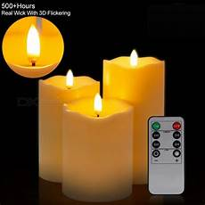 mingfuxin flameless led pillar candles with remote and