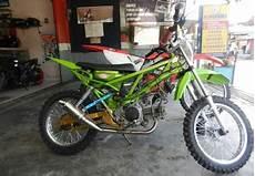 Modifikasi Motor Bebek Jadi Sepeda by Modifikasi Kawasaki Blitz Menjadi Trail Holidays Oo