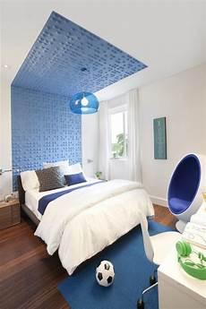 Modernes Zimmer Jungen Blau Wei 223 Wand Decke Deko