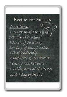 recipe for success ingredients motivational quotes