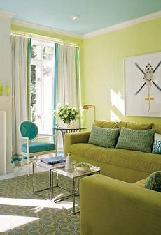 lime green walls and pale tourquoise ceiling living room green living room turquoise living