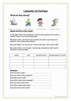 leisure time esl worksheets 3799 13 free esl leisure time worksheets