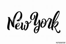 handwritten city name lettering calligraphy new