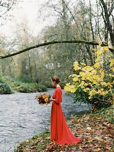 outdoor fall wedding inspiration once wed