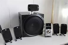 logitech z 5500 thx 505 w rms 5 1 surround system hifi