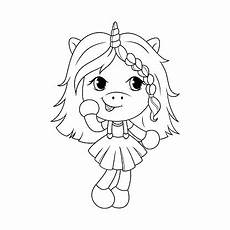 baby unicorn coloring page for vector stock