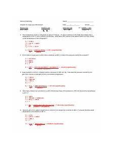 gas laws worksheet answer key doc honors chemistry name