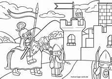 malvorlage ritterburg mittelalter geschichte ritter