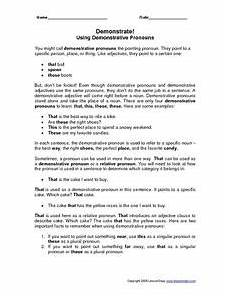 demonstrative adjective lesson plans worksheets lesson planet