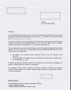 annulation de vente vehicule formulaire annulation de vente voiture modele de lettre type