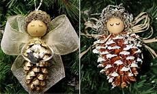 Zapfen Engel Basteln Schleife Fl 252 Gel Weihnachten Basteln