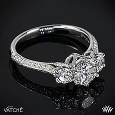 platinum vatche 324 quot swan quot 3 stone engagement ring