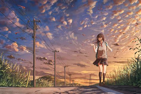 Anime School Girl Wallpaper