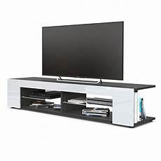 tv lowboard schwarz matt tv board lowboard korpus in schwarz matt fronten