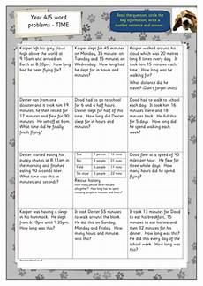 time word problems worksheets year 4 3445 year 4 5 time word problems by hilly100m teaching resources tes