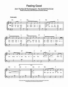 feeling good sheet music by piano 18722