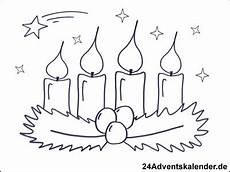 Malvorlagen Weihnachten Adventskranz Malvorlagen Mit Adventskranz 24 Adventskalender