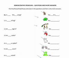 demonstratives questions and short answers