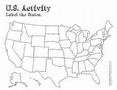 blank state map worksheet printable map united states