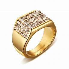 fashion gold color cz zircon wedding rings for men vintage jewelry crystal engagement rings