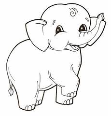 baby elephant coloring page free printable coloring