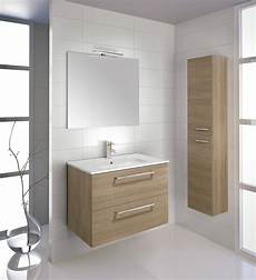 mobili per bagno in offerta mobili bagno sospesi 80 cm rovere chiaro con colonna made