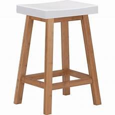 tabouret bicolore bois et blanc h60cm buluh chaises
