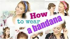 5 Einfache Frisuren How To Wear A Bandana Snukieful