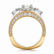 estate two tone wedding and engagement ring 100619