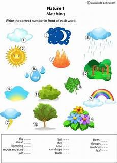 nature worksheets for nursery 15117 nature matching 1 worksheet
