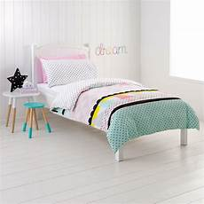 Doona Cover by Single Bed Zarah Pink Pastel Geometrical Print
