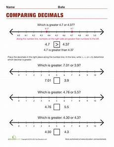 comparing and ordering decimals worksheets grade 4 7430 how to order decimals ordering decimals decimals worksheets teaching math
