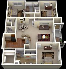 three bedroomed house plans 3 bedroom apartment floor plansinterior design ideas
