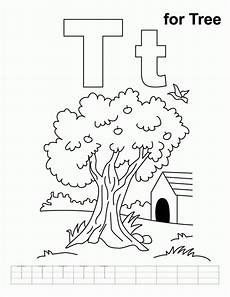 T Is For Thanksgiving Coloring Pages Letter T Coloring Page Coloring Home