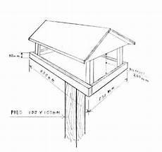 plan de mangeoire fabriquer mangeoire oiseaux mangeoire