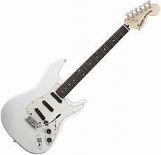 squier deluxe rails strat squier by fender deluxe rails strat guitar olympic white at gear4music
