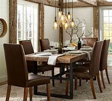 reclaimed dining table pottery barn