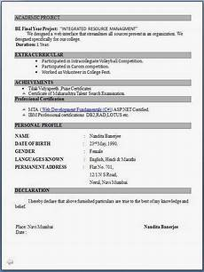 top 5 resume formats for freshers resume format for