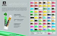 grumbacher academy watercolor chart watercolor paints in