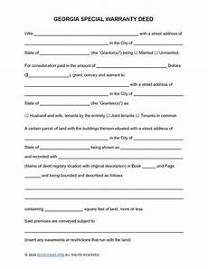 georgia special warranty deed form deed forms deed forms
