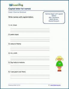 capital letter worksheets grade 3 23105 capital letters for proper names worksheets k5 learning